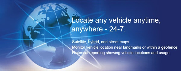 Locate your vehicle any time, anywhere