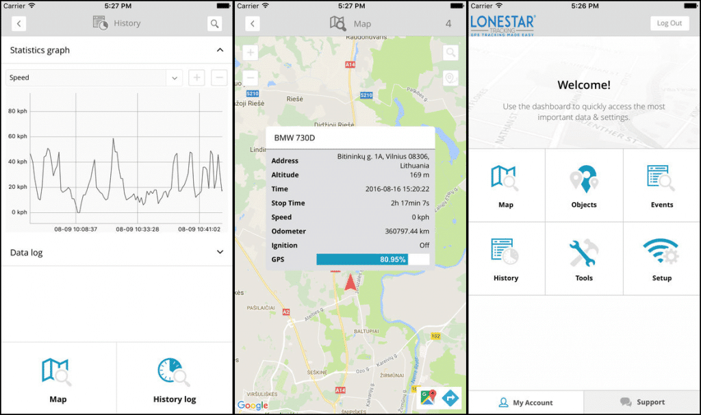 Lonestar Tracking mobile gps tracking app